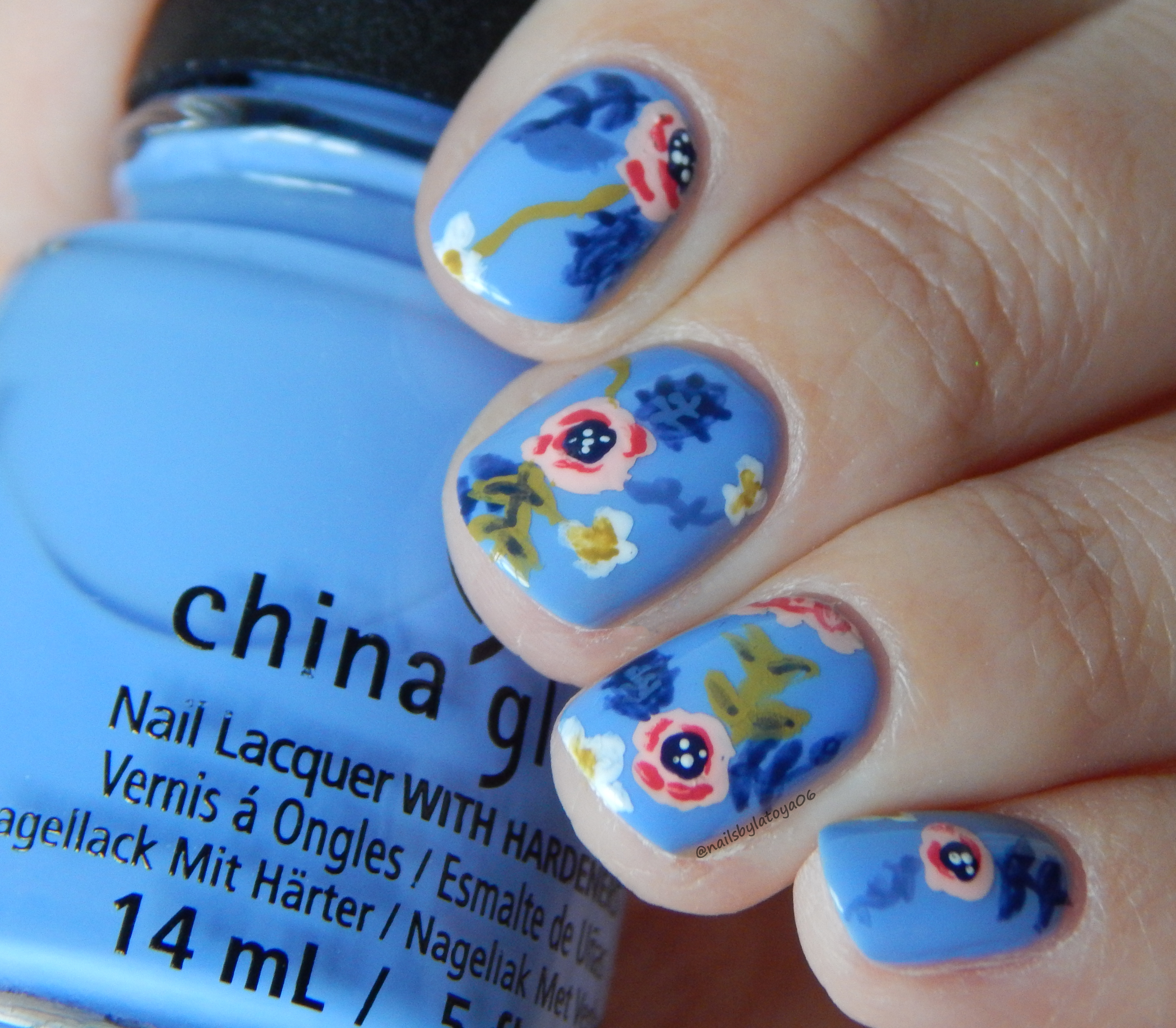 Inspired manicure rifle paper company nail art nails by latoya what do you think of this look im super proud of these i find if i stare at a pattern or nail art look i can pretty easily recreate it prinsesfo Images